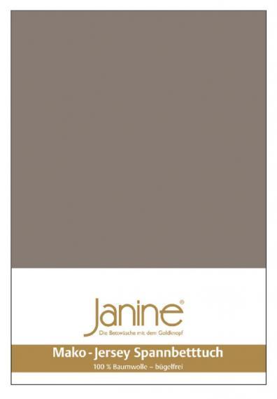 Spannbetttuch Jersey taupe 5007-57