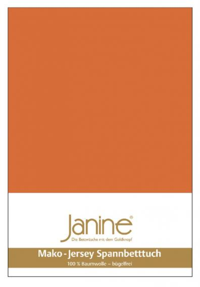 stretch bed sheet jersey rust orange 5007-67