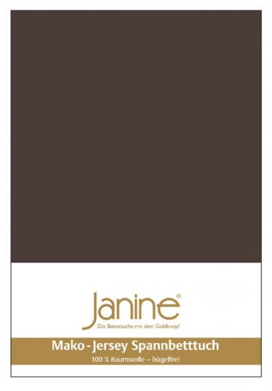 stretch bed sheet jersey dark brown 5007-87