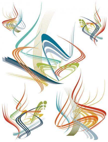 Wandtattoo mit grafischen Elementen 350-0166