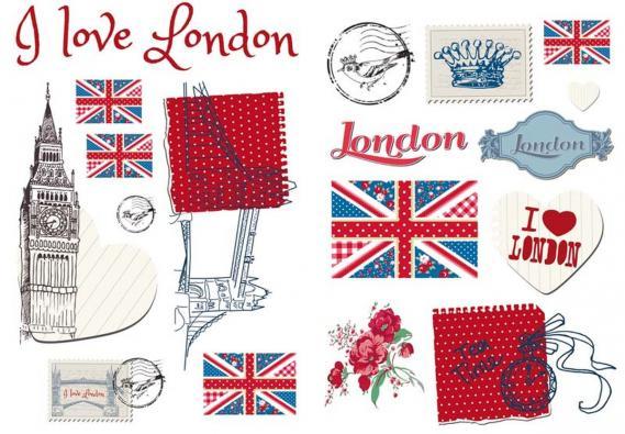 sticker O la la London 65948252