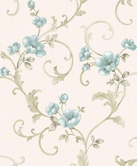 baroque wallpaper with Flower tendril 3806