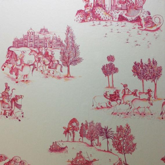 non-woven wallpaper Matthew Williamson Durbar W6951-02