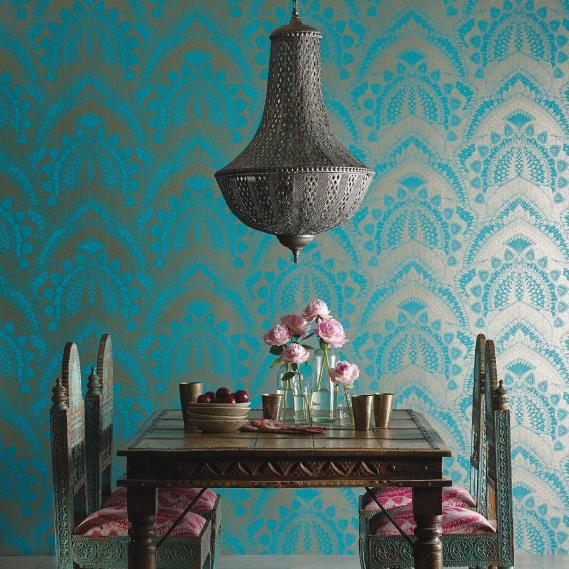 non-woven wallpaper Matthew Williamson Durbar W6952-02