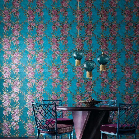 non-woven wallpaper Enchanted Gardens Osborne & Little W7022-01