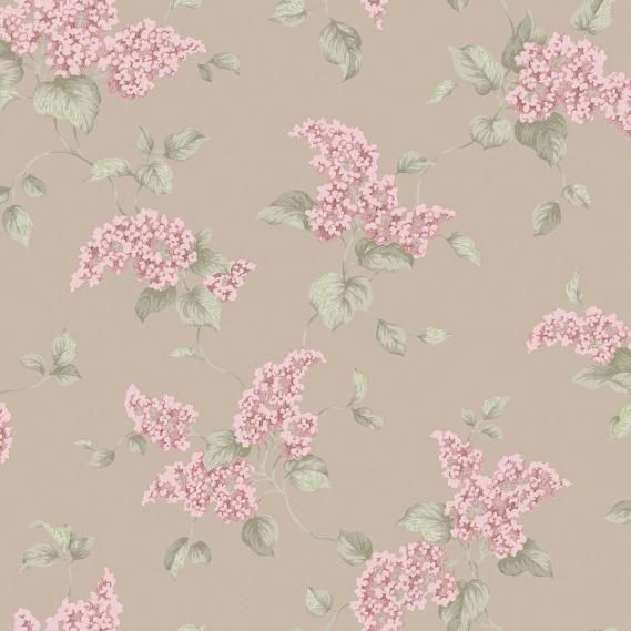 Papiertapete in Leimdruckoptik English Florals G34322
