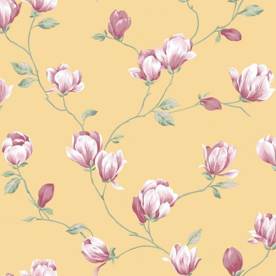 Papiertapete in Leimdruckoptik English Florals G34328