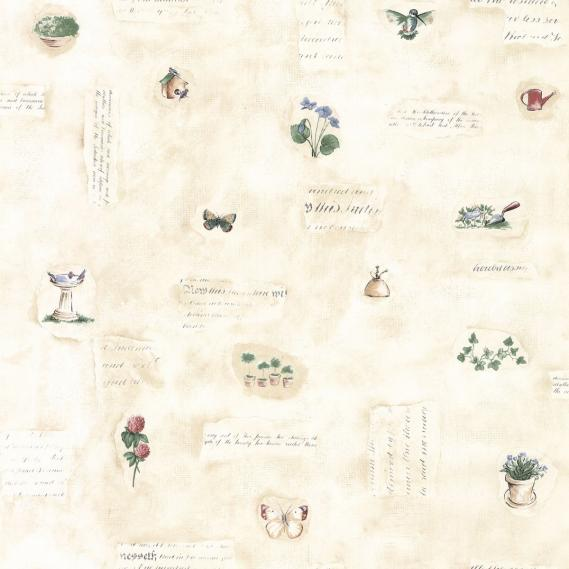 vinyl wallpaper with kitchen motifs KS15180