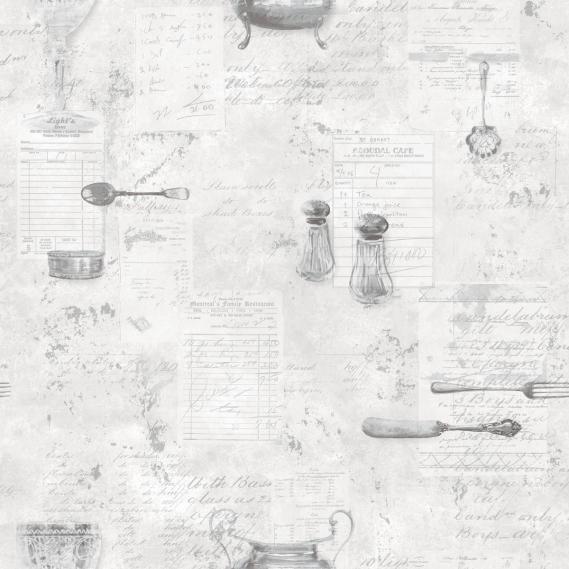 non-woven vinyl wallpaper Norwall Kitchen Recipes G12293