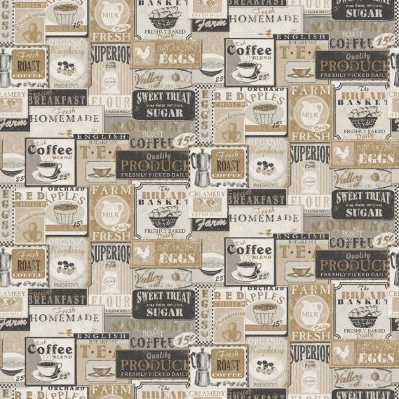 non-woven vinyl wallpaper Norwall Kitchen Recipes G12298