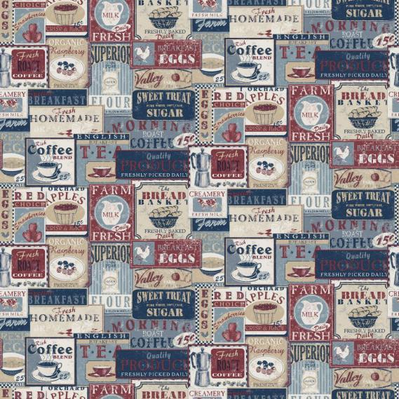 non-woven vinyl wallpaper Norwall Kitchen Recipes G12299