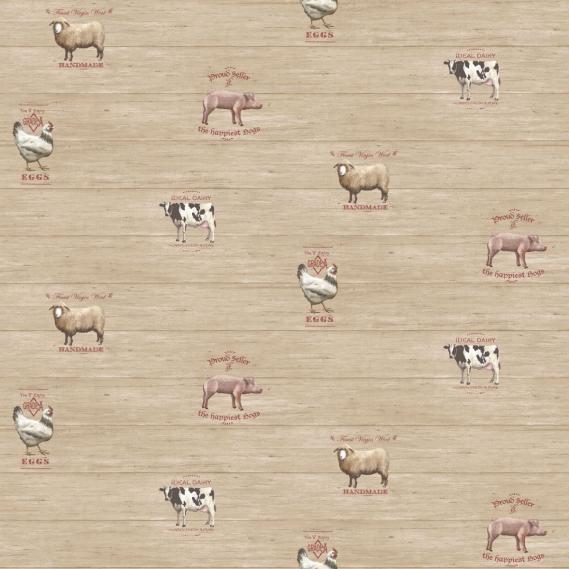 non-woven vinyl wallpaper Norwall Kitchen Recipes G12301