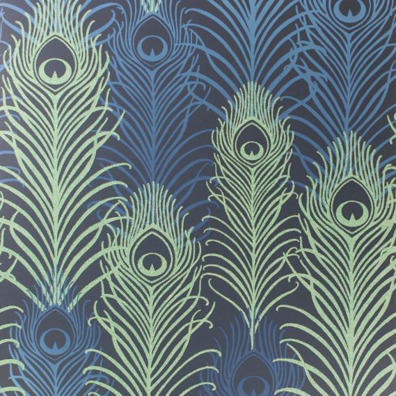 non-woven wallpaper Osborne & Little PEACOCK W6541-01