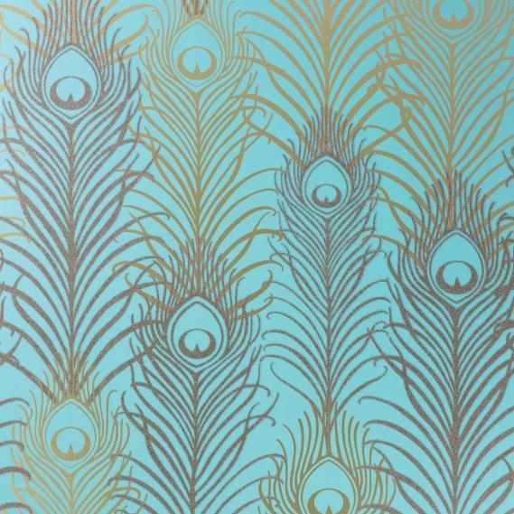 non-woven wallpaper Osborne & Little PEACOCK W6541-02