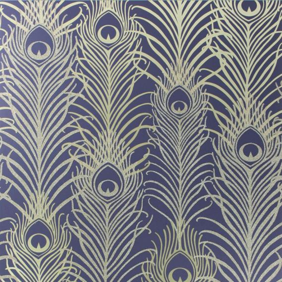 non-woven wallpaper Osborne & Little PEACOCK W6541-03