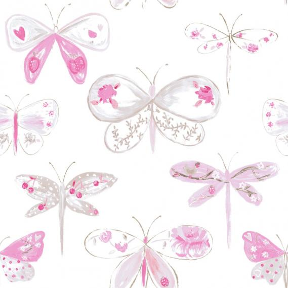 children wallpaper O la la with dragonflies 66184008