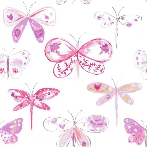 children wallpaper O la la with dragonflies 66185094