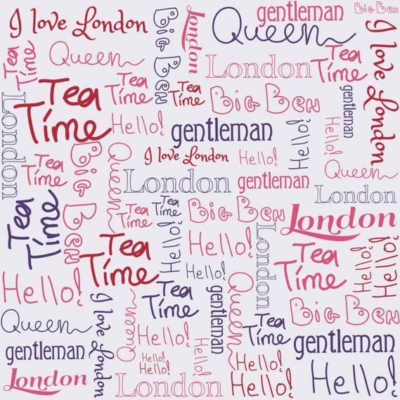 children wallpaper O la la words London 66228039