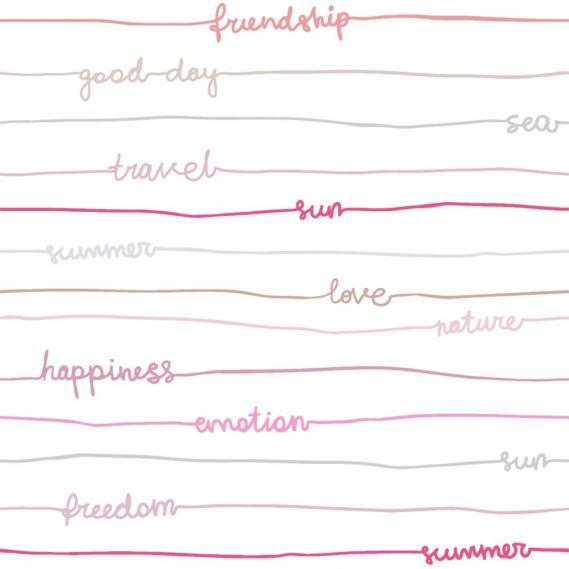children wallpaper O la la stripes words 66241001