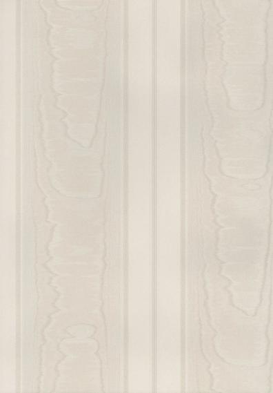 Tapete Simply Silks Moire Streifen Weiß SK34760