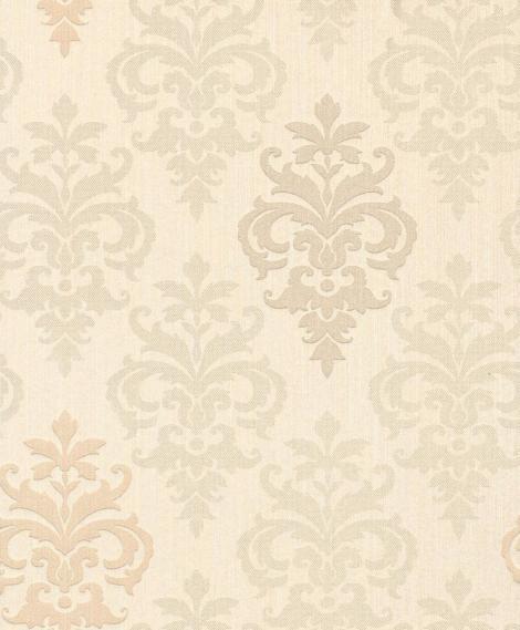 hochwertige tapeten und stoffe stofftapete mit ornamenten 073415 decowunder. Black Bedroom Furniture Sets. Home Design Ideas