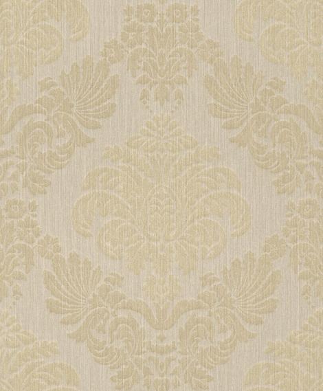 hochwertige tapeten und stoffe tapete mit barockmuster und glitzer 073699 decowunder. Black Bedroom Furniture Sets. Home Design Ideas