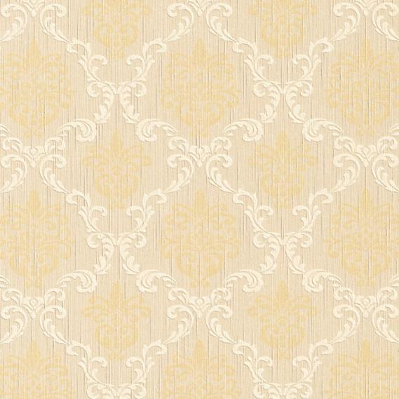 fabric wallpaper with baroque pattern 95629-2