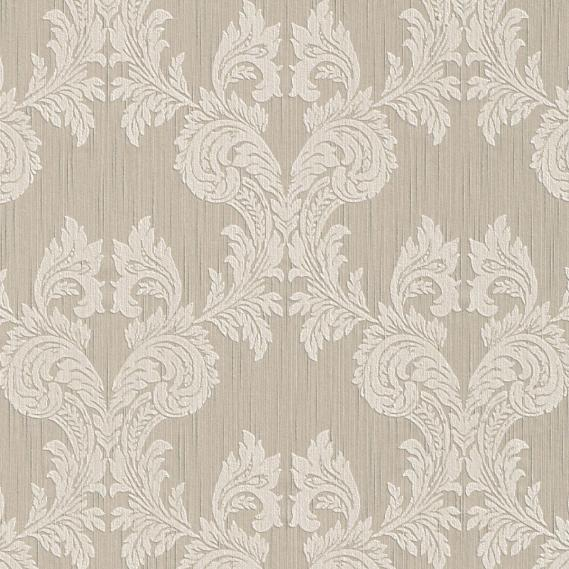 fabric wallpaper with baroque pattern 95630-1