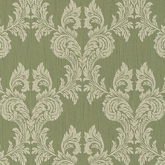 fabric wallpaper with baroque pattern 95630-4