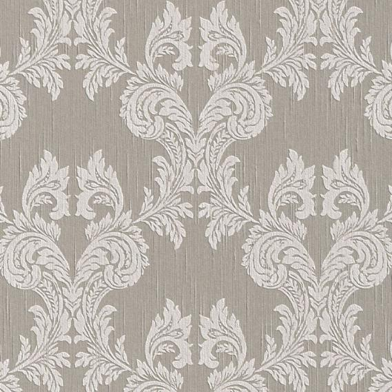 fabric wallpaper with baroque pattern 95630-6