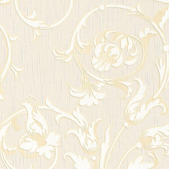 fabric wallpaper with neo baroque pattern 95633-7