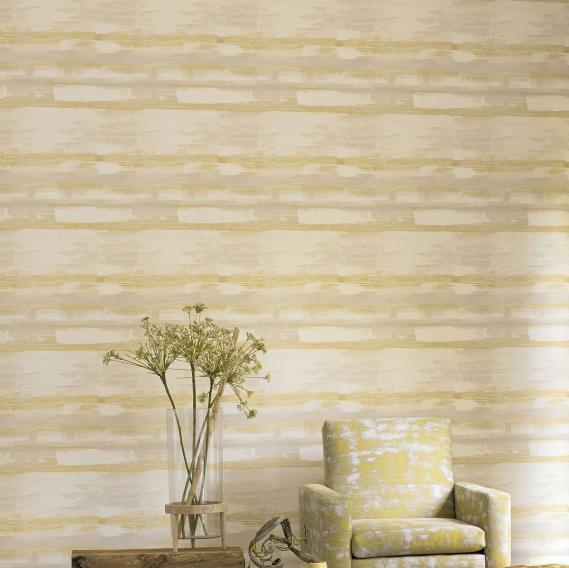 non-woven vinyl wallpaper paint effect yellow Zao 28677131