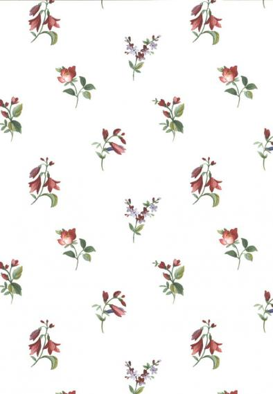 non-woven vinyl wallpapern with flowers 53407