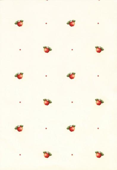 non-woven vinyl wallpaper with apples 55401