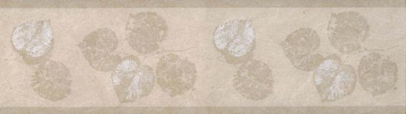 Bordüre Vlies mit Blättern 677N06