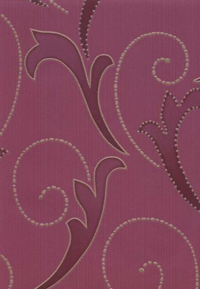 non-woven vinyl wallpaper with leaf pattern 30-589