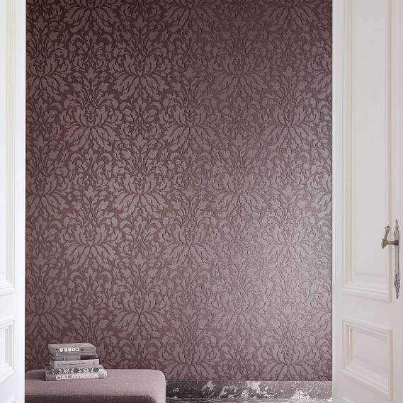 non-woven wallpaper Felone Plum Venezia Khroma VEN002