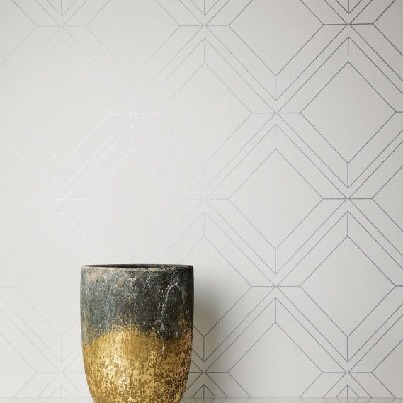 non-woven wallpaper Vico Silver Venezia Khroma VEN401