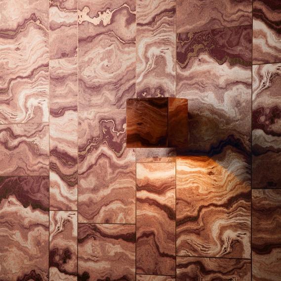 non-woven wallpaper Pietro Sienna Venezia Khroma VEN602