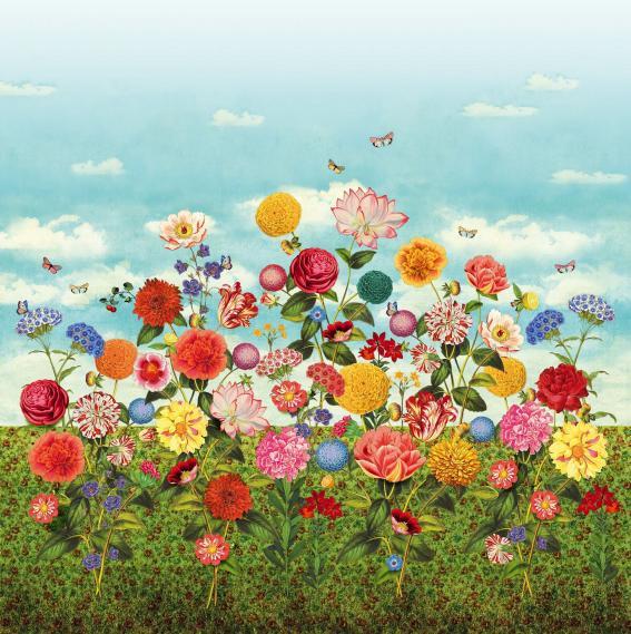 Wandbild Vlies Eijffinger Pip 3 Wild Flowerland 341085