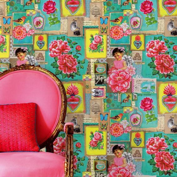 Wandbild Pip Art green Eijffinger 313110
