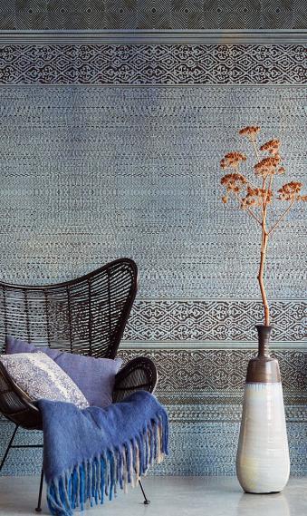 Wandbild Wandteppich Indigo Shibori Eijffinger 376092