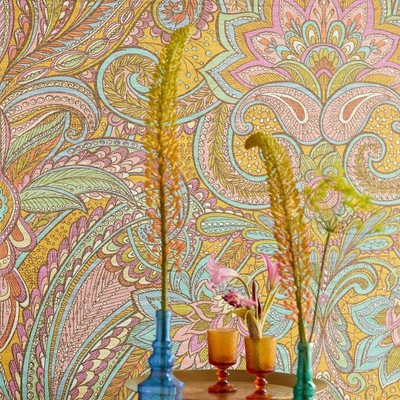 Wandbild Kashmir Saffran Eijffinger 375206