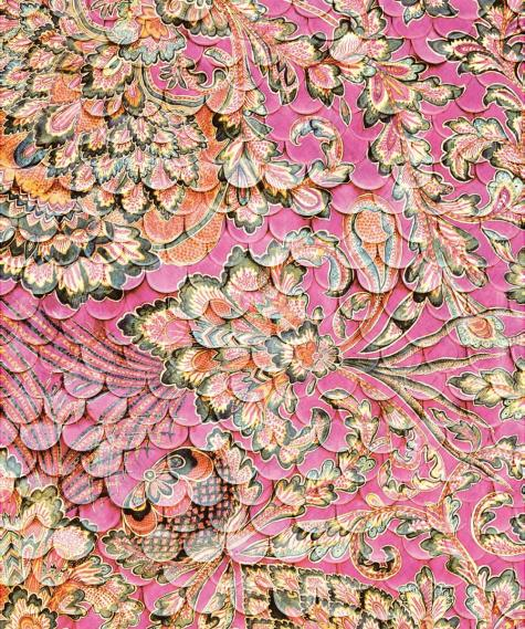 Wandbild Jakobsmuschelwand Fuchsia Eijffinger 375208