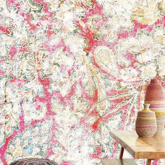 Wandbild Verblasste Wand Rot Eijffinger 375211