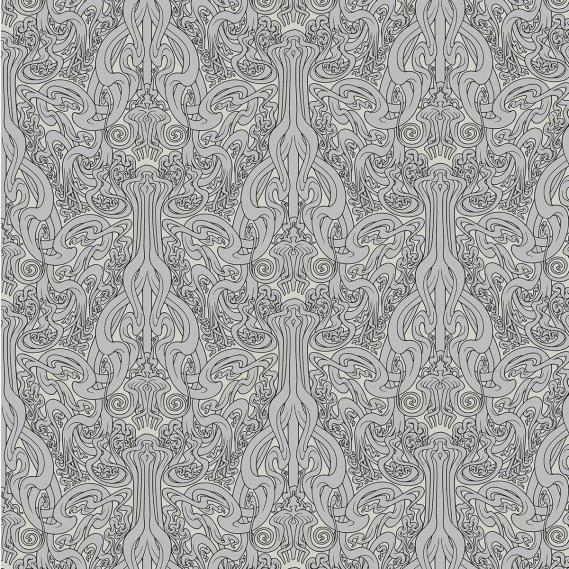 Vliestapete Flower of Love Arte Flavor Paper FP1032 silber / wollweiß