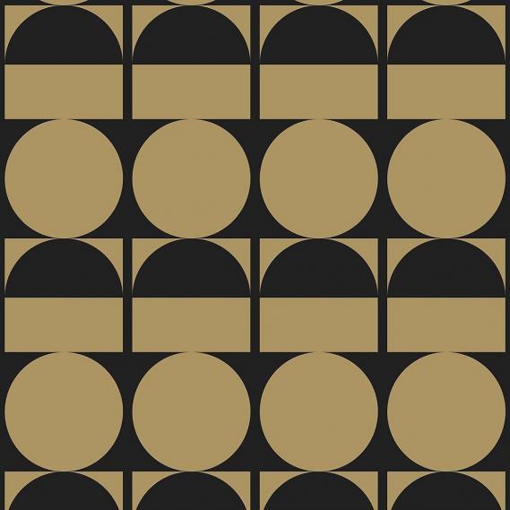 Vliestapete Brasilia Arte Flavor Paper FP1113 gold / schwarz