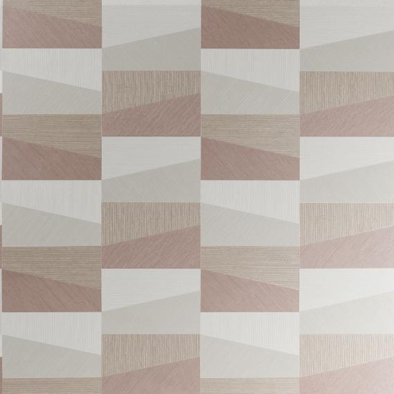 Vinyltapete Polygon Arte Focus 26551 Rot und Beige Töne