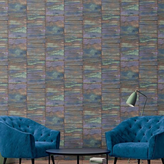 non-woven wallpaper Galerie Grunge weathered wood