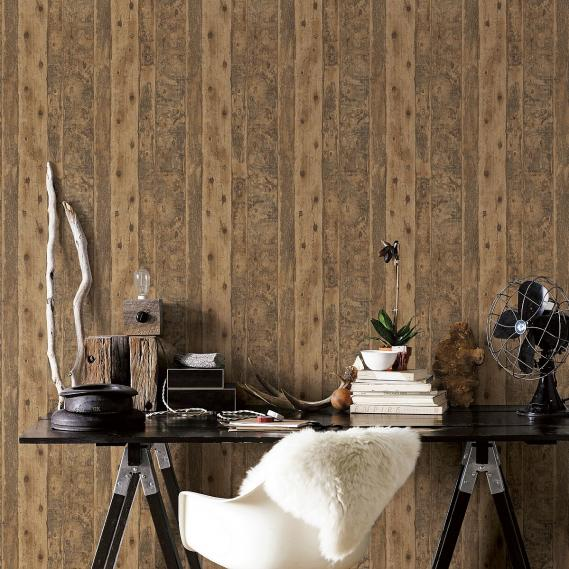 non-woven wallpaper Galerie Grunge boards